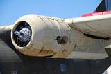 engine of crash landed airplane poster