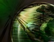 spinning earth globe ( green )