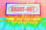 carry out sign abstract poster