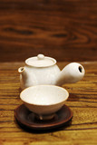 pottery tea pot and cup poster