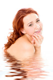 beauty redheaded girl topless poster