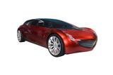 futuristic sports car poster