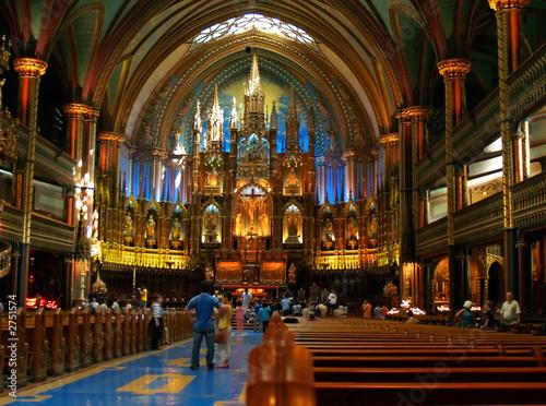 Foto op Plexiglas Bedehuis the inside the cathedral du notre dame in montreal