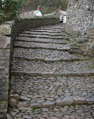 steps in a village street