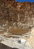 hiking the marble narrows of mosaic canyon in death valley, cali poster
