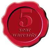 red seal 5  year warranty poster
