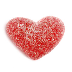 sugar candy valentine's hearts isolated on white