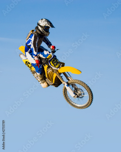 high flying motorcycle - yellow