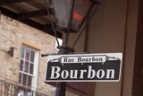 Fototapety bourbon street sign