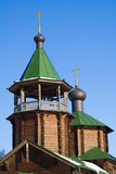 woodenl orthodox church poster