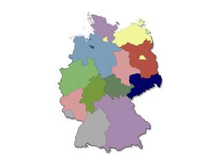 german regions map
