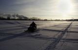trip on snowmobile
