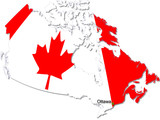 canada map poster