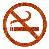 anti smoking sign poster