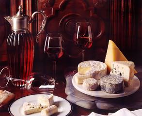 fromages et vin