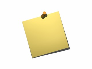 post it yellow