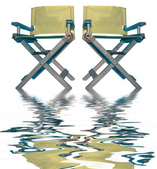 vintage movie directors chairs