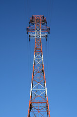 top of the red power tower
