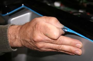 painters hand