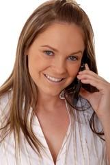 lovely brunette woman on telephone 5