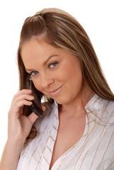 lovely brunette woman on telephone 6