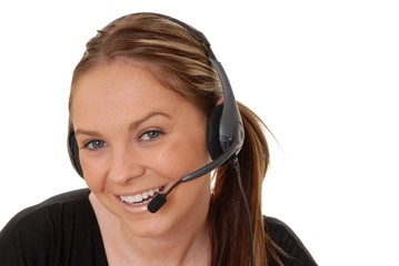 lovely brunette woman on telephone 7