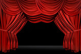 horozontal old fashioned elegant theater stage poster
