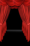 vertical old fashioned elegant theater stage poster