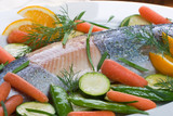 whole trout baked with dill sauce poster