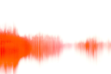 abstract dirty waveform, red