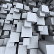 grey concrete cubes