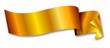 gold ribbon / banner