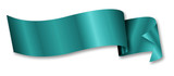 turquoise ribbon / banner poster