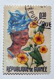 republic guinea stamp poster
