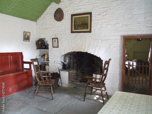 Cottage Interior On Scenic Old Irish Banner 2774588 See Portfolio