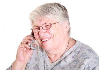grandma on cell phone