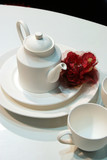 white crockery poster
