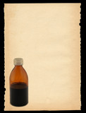 sheet of paper with bottle motif - vertical poster