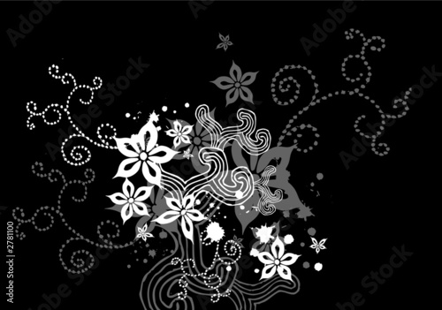 black floral x-1