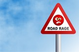 road rage sign poster