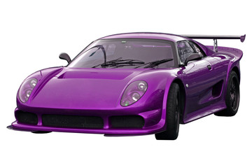 purple supercar