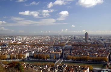 panoramic aerial view at lyon