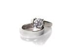 platinum white gold diamond wedding engagement ring poster