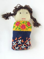 woolen doll for clasping