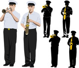 military musicians poster