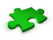 puzzleteil  grün - puzzle piece green