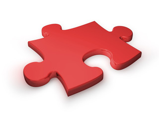 puzzleteil rot - puzzle piece red