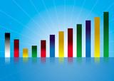 colorful profit graph poster