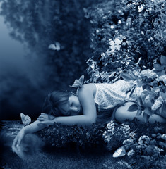 sleep in stream.