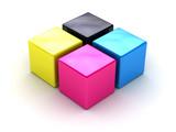 Fototapety cmyk boxes